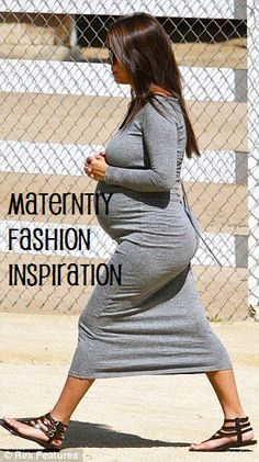 Blog post about fall/winter maternity fashion