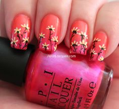 Set in Lacquer: Flowers on a Gradient Base Tutorial