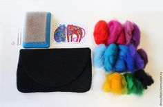 валяние из шерсти Wool Art, Needle Felting, Lana, Projects To Try, Diy, Handbags, Ideas, Felt, Felt Tutorial