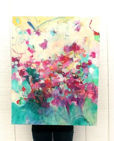 Abstract Painting Original Large Canvas by kerriblackmanfineart, $275.00
