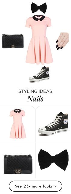 By: My Cousin Lexi by kk-purpleprincess on Polyvore featuring Converse, claires, ncLA and Chanel