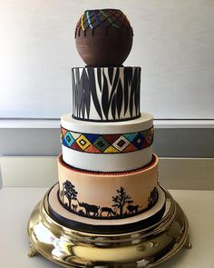 Beaded Wedding Cake, Zebra Wedding, Wedding Dress Cake, Themed Wedding Cakes, Themed Cakes, Zulu Wedding, 1920s Wedding, Themed Weddings, Dream Wedding