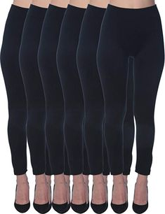 1b1be746e7e58 Active Club Women's Fleece Lined Leggings - Seamless High Waisted Soft  Brushed,Small / Medium