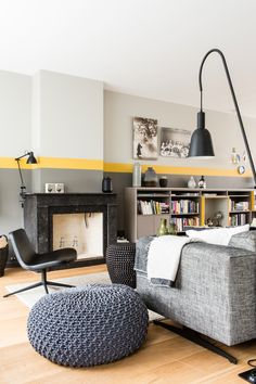 32 the power of house interior color in unexpected places 6 Interior Design, House Interior, Living Room Decor, Interior, Living Room Wall Color, Colorful Interiors, Living Room Color, Living Room Grey, Room