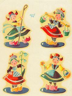 Vintage Dutch Decals by contrarymary, via Flickr