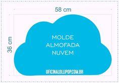 Resultado de imagem para molde nuvem