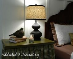 Addicted 2 Decorating » How To Re-Cover A plastic Lampshade