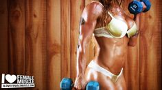 Crazy hot video on muscle babe Victoria Lomba on www.ilovefemalemuscle.com!