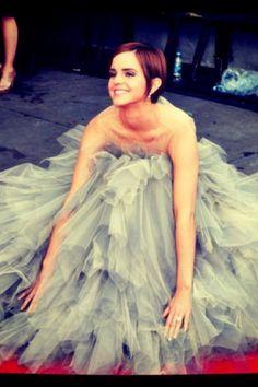 Emma Watson. LOVE her hair, dress, EVERYTHING!