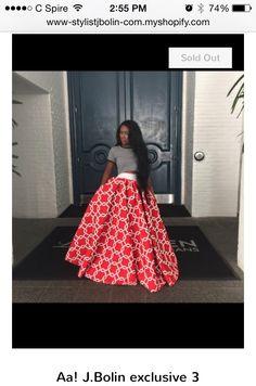 Very long circle skirt with waist band?