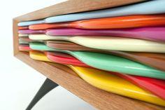 Detail commode design multicolore