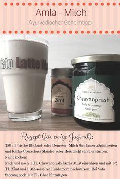 """Schnelles Rezept """"für langes Leben"""". Aus dem Ayurveda stammendes Rezept, das verjüngen soll - die Amla Milch stärkt nicht nur Nerven und Muskeln, sondern auch das Denkvermögen."""