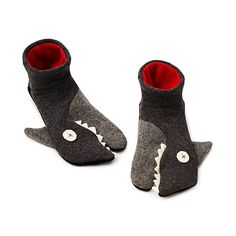 Look what I found at UncommonGoods: Handmade Shark Slippers for $42 #uncommongoods