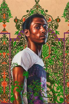 """Kehinde Wiley - Figurative & Rococo Painting - Urban Renaissance - """"The World Stage-Israel"""" African American Artist, American Artists, African Art, Kehinde Wiley, Black Art Pictures, Afro Art, Black Artists, Art Inspo, Les Oeuvres"""