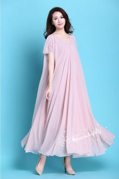 29 Colors Double Chiffon Pink Long Party Short by CHARMINGDIY