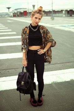 40 Summer Fashion Outfits With Kimonos fashion style fashion and style kimono women's fashion fashion outfits womens fashion and style Grunge Fashion, Look Fashion, 90s Fashion, Autumn Fashion, Fashion Outfits, Womens Fashion, Fashion Trends, Looks Street Style, Looks Style