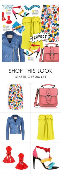 """A colourful summer"" by xiandrina ❤ liked on Polyvore featuring J.Crew, Armani Jeans, IRO, Milly and Alexandre Birman"