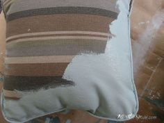 Chalk Painted Porch Pillows (Annie Sloan Chalk Paint) So if you watched the video I was a part of recently you will remember… :: Hometalk