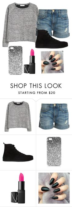 """Untitled #654"" by zombiegirl101 ❤ liked on Polyvore featuring MANGO, Current/Elliott, Ann Demeulemeester, Topshop and NARS Cosmetics"