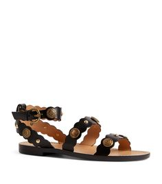SANDRO LEATHER SUSIE SANDALS. #sandro #shoes Black Sandals, Leather Sandals, Parisian Style, Sandro, Harrods, World Of Fashion, Luxury Branding, Women's Blazers, Belts