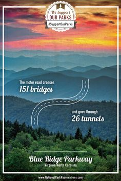 Blue Ridge Parkway, Virginia/North Carolina I am totally going to do this for my vacation some year! East Coast Road Trip, Road Trip Usa, Blue Ridge Parkway, Blue Ridge Mountains, Places To Travel, Places To See, Virginia Is For Lovers, North Carolina Mountains, Down South
