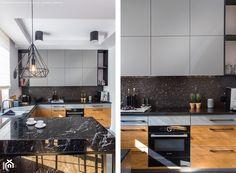 Mokotów - Duża otwarta kuchnia w kształcie litery u w aneksie z oknem, styl nowoczesny - zdjęcie od MebleActiv - homebook