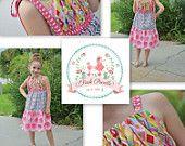Girls PDF Sewing Pattern, Dress Pattern, The Addison Maxi Dress