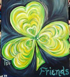 Saint Patricks Day Art, St Patricks Day Crafts For Kids, Spring Painting, Painting For Kids, Kids Canvas, Canvas Art, Painting Canvas, Watercolor Canvas, Watercolor Paintings