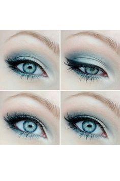 Gorgeous Makeup: Tips and Tricks With Eye Makeup and Eyeshadow – Makeup Design Ideas Makeup Fx, Artist Makeup, Blue Eye Makeup, Eye Makeup Tips, Makeup Geek, Makeup Inspo, Makeup Inspiration, Hair Makeup, Makeup Ideas