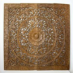 @Overstock - The awe-inspiring creativity of this lotus panel takes home decorating to a whole new level. This wall panel will provoke tranquility and superior craftsmanship in your decor.http://www.overstock.com/Worldstock-Fair-Trade/Reclaimed-Teak-Wood-Natural-Wax-48-inch-Lotus-Panel-Thailand/5226516/product.html?CID=214117 $394.49