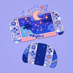 Starry, an art print by Meyoco Aesthetic Drawing, Aesthetic Anime, Aesthetic Art, Aesthetic Pictures, Arte Do Kawaii, Kawaii Art, Japon Illustration, Cute Kawaii Drawings, Cute Art Styles