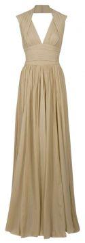 Sand Elie Saab Halter-neck Pleated Gown Dress 60% off retail