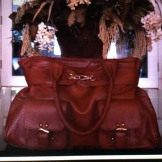Bundle for simp005 3 bag bundle for simp005.  Brown Nine & Co bag, red Miztique bag and brown faux leather handbag Bags