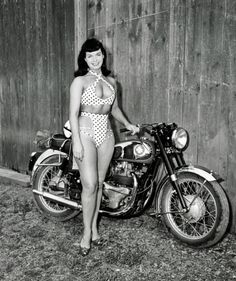 Bettie Page and her bike