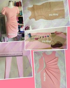 Discover thousands of images about Sunray / sun ray pleat Pattern alterations for side gathered dress Pattern Making Fundamentals: Dart manipulation and pivot points (VIDEO) Find instructions for sewing dress like this Drafting on paper Fashion Sewing, Diy Fashion, Ideias Fashion, Dress Sewing Patterns, Clothing Patterns, Sewing Clothes, Diy Clothes, Sewing Hacks, Sewing Tutorials