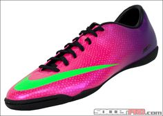 Nike Mercurial Victory IV Indoor Soccer Shoes - Fireberry with Electric Green...$62.99