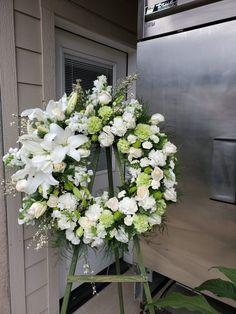 Casket Flowers, Grave Flowers, Altar Flowers, Cemetery Flowers, Church Flowers, Floral Arrangements For Funeral, Creative Flower Arrangements, Flower Wreath Funeral, Funeral Flowers