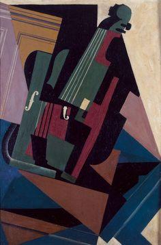 Juan Gris (Madrid 1887-Boulogne-Billancourt 1927) Il violino 1916, olio su compensato, cm 79,5 x 53,5. Collezione del Museo Nacional Centro de Arte Reina Sofía, Madrid, DE01312 Source: huma3