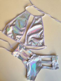 Holographic Body Suit Two Piece Rave Festival, Festival Looks, Festival Wear, Festival Outfits, Festival Fashion, Rave Outfits, Sexy Outfits, Holographic Fashion, Mode Kawaii