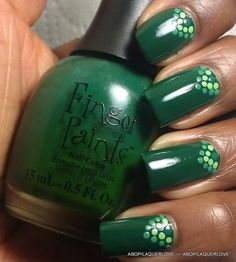 Fingerpaints - Scenery Greenery, with dots!