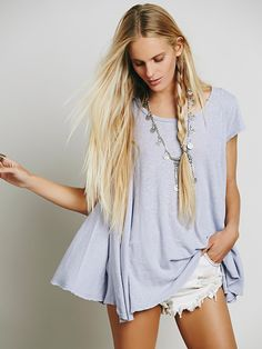 We The Free Sylvie Tee   Free People Clothing Boutique   Dusk