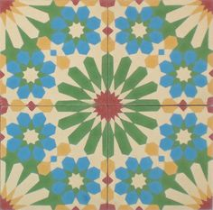 Super sweet colourful cement mosaico tile