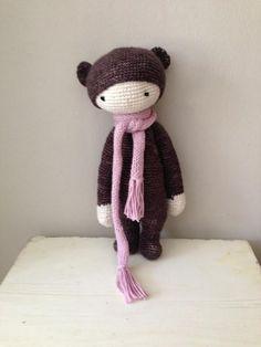BINA the bear made by Jane R. / crochet pattern by lalylala