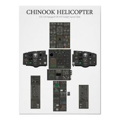 Chinook Helicopter Cockpit Layout Chart Poster from http://www.zazzle.com/helicopter+posters