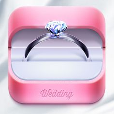 Wedding app icon by Ampeross in 30+ Beautiful Icon Designs