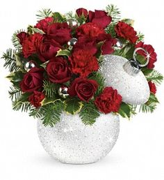 Shimmering Snow Bouquet T12X400A