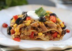 Mexican lasagna I Heart Nap Time | I Heart Nap Time - How to Crafts, Tutorials, DIY, Homemaker