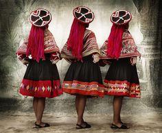 Mario Testino's personal project: Alta Moda. Peruvian traditional dress.