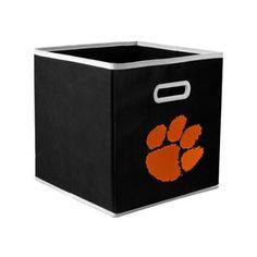 Clemson Tigers Fabric Storage Drawer - Black
