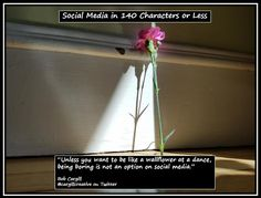 Unless you want to be like a wallflower at a dance, being boring is not an option on #SocialMedia.